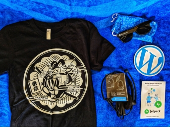 Shirt and Glasses and Headset and Stickers